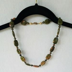 Jewelry - Unakite Bead Necklace
